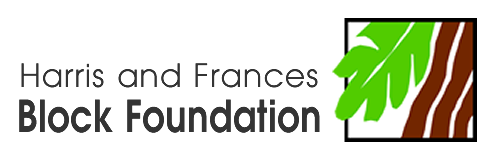 Logo for the Harris and Frances Block Foundation